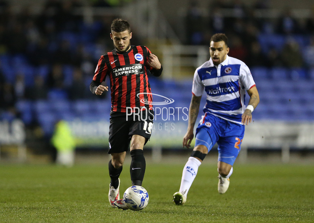 Jake Forster-Caskey, Brighton midfielder during the Sky Bet Championship match between Reading and Brighton and Hove Albion at the Madejski Stadium, Reading, England on 10 March 2015.