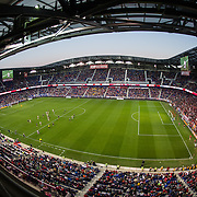 Nov 8, 2015; Harrison, NJ, USA; Red Bull Arena during the second half of the MLS Playoffs at Red Bull Arena. Mandatory Credit: William Hauser-USA TODAY Sports