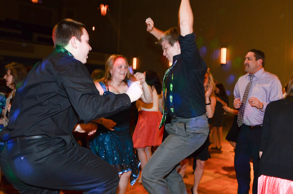 Kathleen & Brendan's guests going wild on the dance floor, Mundelein Center, Loyola University Chicago