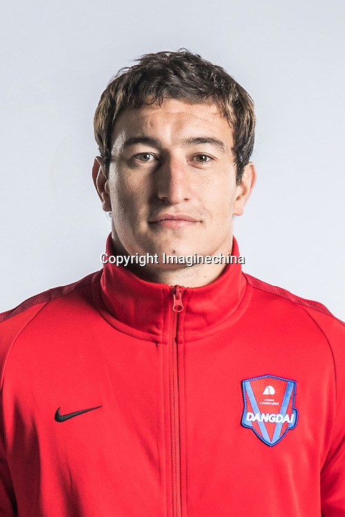 **EXCLUSIVE**Portrait of Argentine soccer player Nicolas Aguirre of Chongqing Dangdai Lifan F.C. SWM Team for the 2018 Chinese Football Association Super League, in Chongqing, China, 27 February 2018.