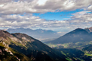 Stubai Alps Landscape. Photographed at the Schlick 2000 ski centre, Stubai, Tyrol, Austria in September
