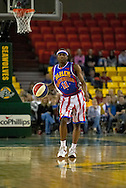 05 May 2006: Keiron 'Sweet P' Shine wrigles the ball up court in the Harlem Globetrotters basketball game vs the New York Nationals at the Sulivan Arena in Anchorage Alaska during their 80th Anniversary World Tour.