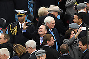 Members of Congress take mobile phone photos during the President Inaugural Ceremony on Capitol Hill January 20, 2017 in Washington, DC. Donald Trump became the 45th President of the United States in the ceremony.