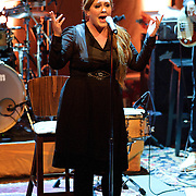 WASHINGTON, D.C. - May 12th, 2011: British music sensation Adele performs at a sold-out 9:30 Club in Washington , D.C. Her sophomore album, 21, was released early in 2011 and spent six weeks atop the US music charts.  (Photo by Kyle Gustafson/For The Washington Post)