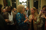 BEN OKHRI; LADY ANTONIA PINTER; KATIE HICKMAN, Drinks to celebrate the 60th anniversary of the Times Cheltenham Literature festival. Hosted by James Harding editor of the Times and the Directors of the Cheltenham Festival. The London Library. St. James's Sq. 23 September 2009.