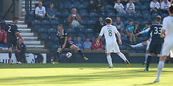 Raith Rovers Grant Anderson (11) scoring their goal.<br /> Half time : Raith Rovers 1 v 0 Falkirk, Scottish Championship 28/9/2013.<br /> &copy;Michael Schofield.