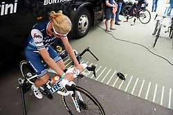 Trixi Worrack (GER) prepares for Boels Ladies Tour 2019 - Prologue, a 3.8 km individual time trial at Tom Dumoulin Bike Park, Sittard - Geleen, Netherlands on September 3, 2019. Photo by Sean Robinson/velofocus.com