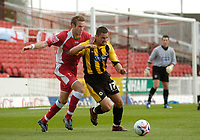 Photo: Leigh Quinnell.<br /> Swindon Town v Boston United. Coca Cola League 2. 30/09/2006. Swindons Andy Monkhouse is held off the ball by Bostons Stewart Talbot.