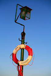 UK CORNWALL NEWLYN 9JUN08 - Life ring at Newlyn harbour in Cornwall, western England.<br /> <br /> jre/Photo by Jiri Rezac / WWF UK<br /><br /> <br /> © Jiri Rezac 2008