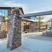 Architect Patrick Edinger has designed a small shopping center in San Marcos, California