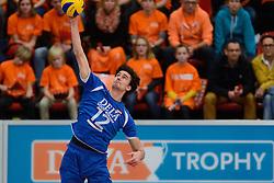 29-12-2013 VOLLEYBAL: DELA TROPHY NEDERLAND - FRANKRIJK: DEN BOSCH<br /> Nederland verliest de eerste wedstrijd met 3-0 van Frankrijk / Wytze Kooistra<br /> &copy;2013-FotoHoogendoorn.nl