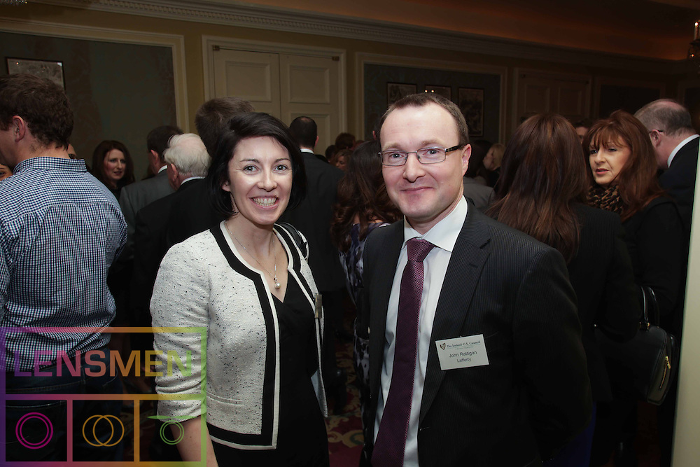 Pictured at (l-r) at The Ireland-U.S. Council was Caroline Halton and John Rattigan. Picture Lensmen.