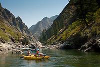 Rafting the Impassable Canyon.  Middle Fork of the Salmon River.  Frank Church-River Of No Return Wilderness, Idaho.