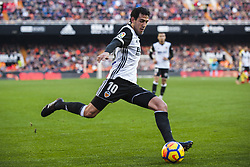 December 23, 2017 - Valencia, Spain - Dani Parejo during the match between Valencia CF against Villarreal CF , week 17 of  La Liga 2017/18 at Mestalla stadium, Valencia, SPAIN - 17th December of 2017. (Credit Image: © Jose Breton/NurPhoto via ZUMA Press)
