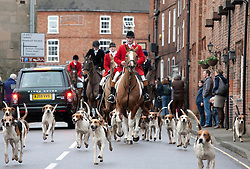 © Licensed to London News Pictures. 26/12/2011, Market Bosworth, Leicestershire, UK. The annual Boxing Day Hunt took place in Market Bosworth, over fifty riders took part in one of the largest meets for many years. Photo credit : Dave Warren/LNP