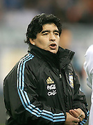 Argentina's Diego Armando Maradona before the international friendly match between Spain and Argentina in Madrid, Spain on November 14 2009.