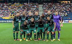 15.09.2016, Red Bull Arena, Salzburg, AUT, UEFA EL, FC Red Bull Salzburg vs FC Krasnodar, Gruppe I, 1. Runde, im Bild Mannschaftsfoto Krasnodar: hintere Reihe v.l.: Fedor Smolov (FC Krasnodar), Naldo (FC Krasnodar), Vyachelsav Podberezkin (FC Krasnodar), Artur Jedrzejczyk (FC Krasnodar), Charles Kabore (FC Krasnodar), Andreas Granqvist (FC Krasnodar), Stanislav Kritsyuk (FC Krasnodar), vordere Reihe v.l.: Joaozinho (FC Krasnodar), Sergei Petrov (FC Krasnodar), Kouassi Eboue (FC Krasnodar), Odil Akhmedov (FC Krasnodar) // during the UEFA Europa League, group I, 1st round match betweenFC Red Bull Salzburg and FC Krasnodar at the Red Bull Arena in Salzburg, Austria on 2016/09/15. EXPA Pictures © 2016, PhotoCredit: EXPA/ JFK