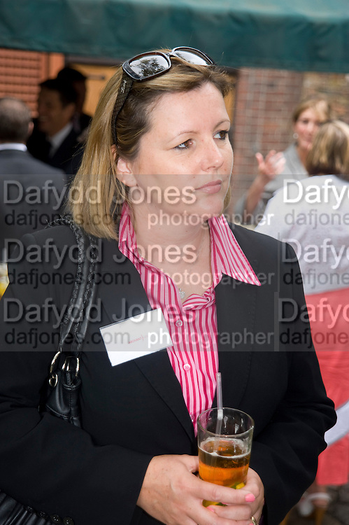 CAROLINE KENNY; CLUTTONS, Archant Summer party. Kensington Roof Gardens. London. 7 July 2010. -DO NOT ARCHIVE-© Copyright Photograph by Dafydd Jones. 248 Clapham Rd. London SW9 0PZ. Tel 0207 820 0771. www.dafjones.com.
