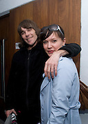IAN BROWN; STONE ROSES; LAURA K. JONES, The Kids are all Riot. Maverick Showroom Redchurch st. London. 9 April 2009<br /> IAN BROWN; STONE ROSES; LAURA K. JONES, The Kids are all Riot. Maverick Showroom Redchurch st. London. 9 April 2009 *** Local Caption *** -DO NOT ARCHIVE-© Copyright Photograph by Dafydd Jones. 248 Clapham Rd. London SW9 0PZ. Tel 0207 820 0771. www.dafjones.com.