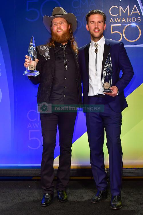 John &amp; T.J. Osborne of Brothers Osborne bei den 50. Country Music Awards in Nashville / 021116<br /> <br /> *** Country Music Awards 2016, Nashville, USA, November 2, 2016 ***