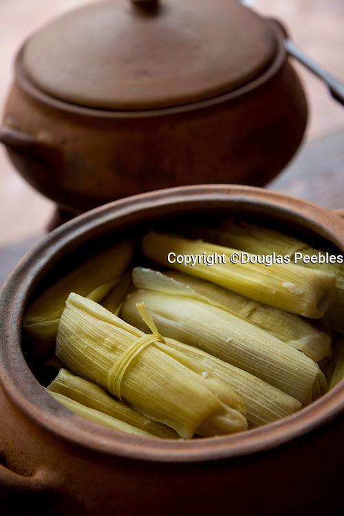 Tamales, Restaurant  El Parador de Moray, Inca terraces of Moray,  Cusco Region, Urubamba Province, Machupicchu District, Peru