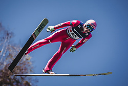 30.09.2018, Energie AG Skisprung Arena, Hinzenbach, AUT, FIS Ski Sprung, Sommer Grand Prix, Hinzenbach, im Bild Dawid Kubacki (POL) // Dawid Kubacki of Poland during FIS Ski Jumping Summer Grand Prix at the Energie AG Skisprung Arena, Hinzenbach, Austria on 2018/09/30. EXPA Pictures © 2018, PhotoCredit: EXPA/ Stefanie Oberhauser