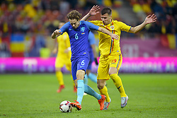November 14, 2017 - Bucharest, Romania - Netherlands's Daley Blind vies Romania's George Tucudean during International Friendly match between Romania and Netherlands at National Arena Stadium in Bucharest, Romania, on 14 november 2017. (Credit Image: © Alex Nicodim/NurPhoto via ZUMA Press)