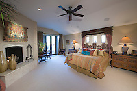 Cailing fan is spacious Palm Springs bedroom