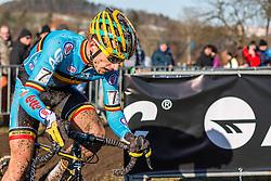 Quinten Hermans (BEL), Men Under 23, Cyclo-cross World Championships Tabor, Czech Republic, 1 February 2015, Photo by Pim Nijland / PelotonPhotos.com