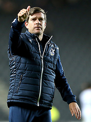 Darrell Clarke manager of Bristol Rovers gives the fans a thumbs up after the 3-3 draw at Milton Keynes Dons - Mandatory by-line: Robbie Stephenson/JMP - 18/10/2016 - FOOTBALL - Stadium MK - Milton Keynes, England - Milton Keynes Dons v Bristol Rovers - Sky Bet League One