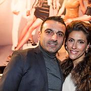 NLD/Amsterdam/20140203 - 20 Jaar Talkies Magazine, Kristina Bozilovic en partner Tamar Gönen