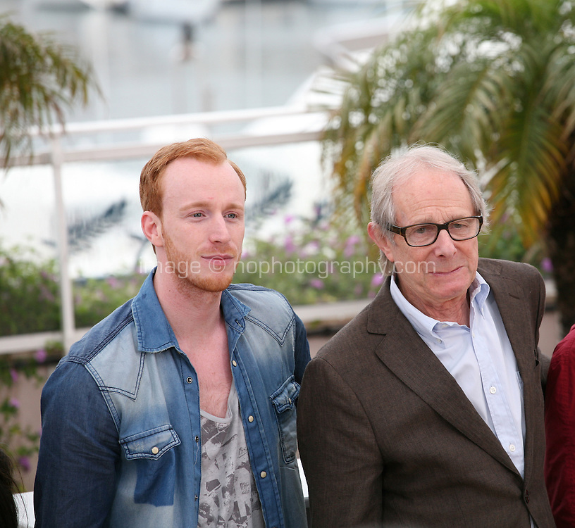 William Ruane, Ken Loach,  at  The Angel?s Share photocall at the 65th Cannes Film Festival France. The Angel's Share is directed by Ken Loach. Tuesday 22nd May 2012 in Cannes Film Festival, France.