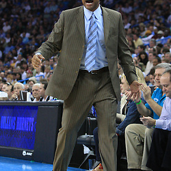 11 February 2009:  Boston Celtics coach Doc Rivers argues an officials call during a 89-77 loss by the New Orleans Hornets to the Boston Celtics at the New Orleans Arena in New Orleans, LA.
