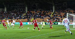 October 5, 2017 - Yerevan, Armenia - Poland's midfielder Kamil Grosicki scores a goal during the FIFA World Cup 2018 qualification football match between Armenia and Poland in Yerevan on October 5, 2017. (Credit Image: © Foto Olimpik/NurPhoto via ZUMA Press)