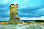 Kansas / Gove County, Monument Rocks, Chalk Pyramids, 80 Million Years Old, First National Natural Landmark, Sedimentary Formations