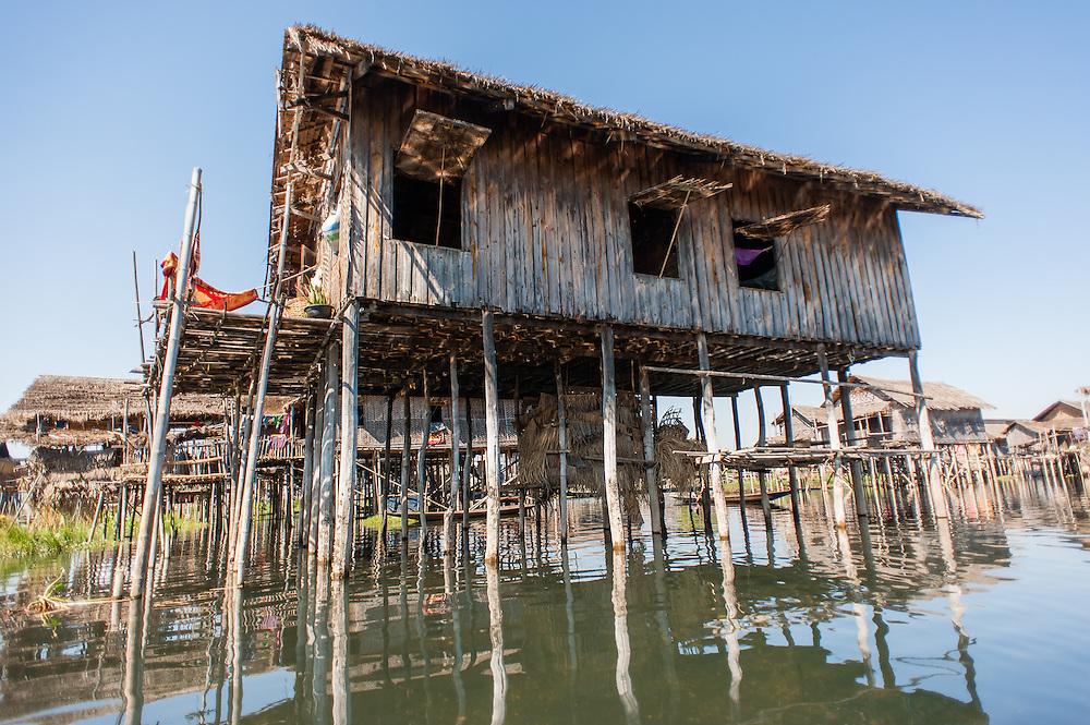 Floating village in Inle Lake (Myanmar)