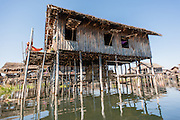 Floating village in Inle Lake (Myanmar)