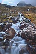 Steep High Alpine Stream Rushing stream near Berliner Hutte