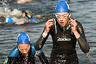The 2013 European Triathlon Union, Triathlon Junior European Cup (part of the Youth and Junior British Triathlon Super Series) held at the Eton Dorney Boating Lake, site of the 2012 London Olympic Games.. Saturday 31  August  2013.  Windsor, UK.<br /> <br /> Photo Credit: Mark Chappell<br /> <br /> &copy; Mark Chappell 2013. <br /> All rights reserved, see instructions.