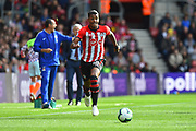 Mario Lemina (18) of Southampton during the Premier League match between Southampton and Chelsea at the St Mary's Stadium, Southampton, England on 7 October 2018.