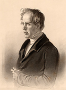 David Welsh (1793-1845) Scottish scholar and divine. Moderator of the General Assembly of the Church of Scotland 1843. Professor of Church History at Edinburgh University. Engraving from 'A Biographical Dictionary of Eminent Scotsmen' by the Rev. Thomas Thomson (Glasgow, Edinburgh and London, 1870).