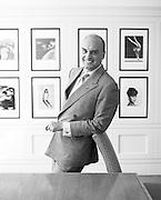 Portrait of Nicholas Coleridge of Vogue<br /> Photography by Zac Macaulay<br /> Tel 0044 07947 884 517<br /> www.linkphotographers.com