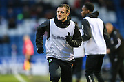 Forest Green Rovers Lee Collins(5) warming up during the EFL Sky Bet League 2 match between Oldham Athletic and Forest Green Rovers at Boundary Park, Oldham, England on 12 January 2019.