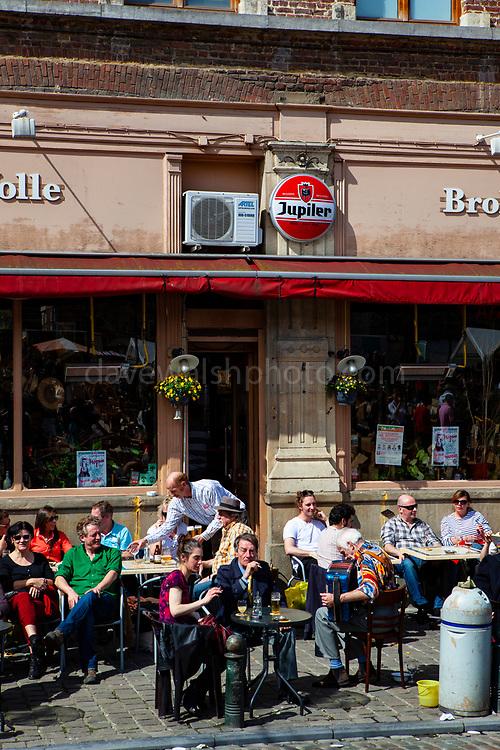 March au Puces - daily open air flea market at Place du Jeu de Ball, Brussels, Belgium.