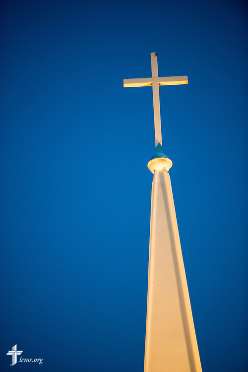 The cross of the Wayside Prayer Chapel on Saturday, July 18, 2015, at Mission Central in Mapleton, Iowa. LCMS Communications/Erik M. Lunsford