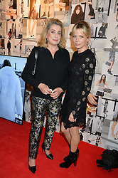 Left to right, CATHERINE DENEUVE and MICHELLE WILLIAMS at the Louis Vuitton Series 3 VIP Launch held at 180 Strand, London on 20th September 2015.