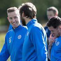 St Johnstone Training….30.09.16<br />Streven MacLean pictured during training this morning with Murray Davidson<br />Picture by Graeme Hart.<br />Copyright Perthshire Picture Agency<br />Tel: 01738 623350  Mobile: 07990 594431