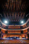 Interior of Koerner Hall in Toronto, Ontario, Canada.