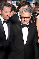 Director Paolo Sorrentino, Actor Harvey Keitel at the gala screening for the film Youth at the 68th Cannes Film Festival, Wednesday May 20th 2015, Cannes, France.