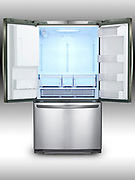 Stainless steel refridgerator (open)